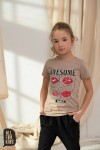 T-shirt AWESOME - BEŻ / All For Kids