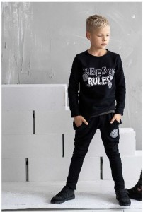 Bluza Break Rules czarna / All For Kids