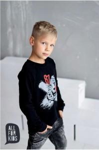 Bluza tygrys czarna / All For Kids
