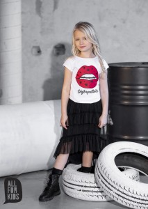T-shirt usta - BIAŁY/ All For Kids