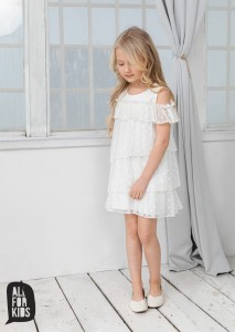 Sukienka Boho - ECRU / All For Kids