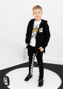 Bluza z kapturem Have Fun - CZARNA / All for Kids