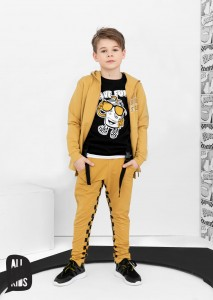 Bluza z kapturem Have Fun - MUSZTARDOWA / All for Kids