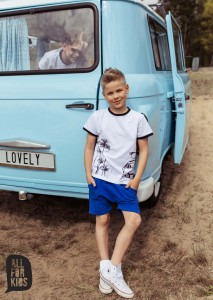 T-shirt PALMY - BIAŁY / All for Kids
