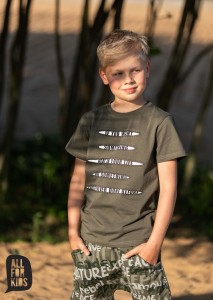 T-shirt IF YOU WANT - KHAKI / All for Kids