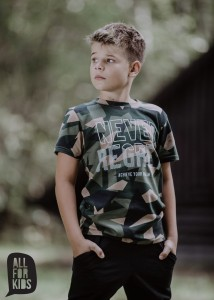 T-shirt NEVER REGRET - MORO/ All for Kids