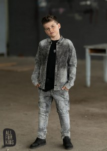 Rozpinana bluza jeansowa TYGRYS - GRAFIT / All For Kids