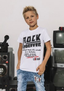 T-shirt ROCK - BIAŁY / All for Kids