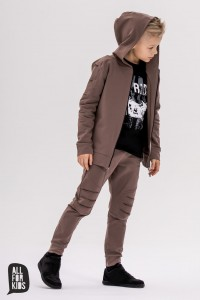 Bluza z kapturem - BRĄZ / All For Kids