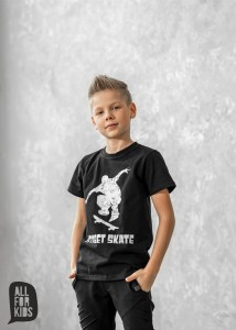 T-shirt SKATE - CZARNY / All For Kids