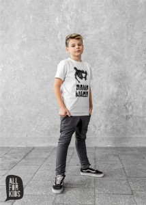T-shirt SKATE - BIAŁY / All For Kids