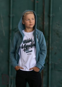 Rozpinana bluza z kapturem - MORSKA / All for Kids