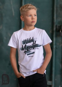 T-shirt Wild Youth - BIAŁY / All for Kids